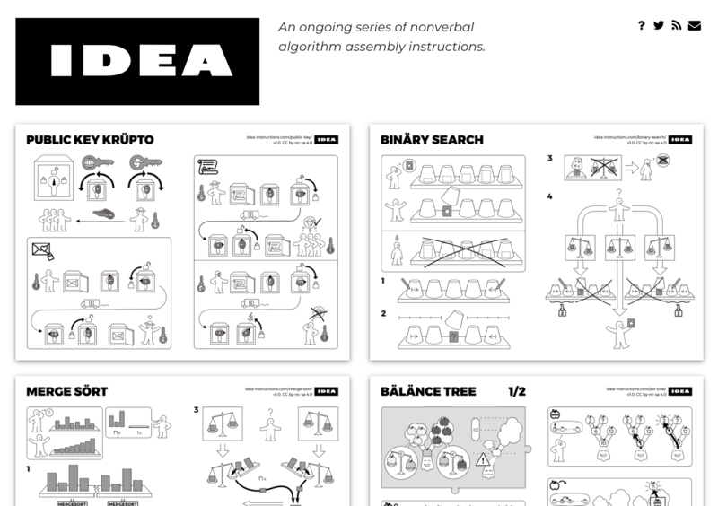 IDEA - nonverbal algorithm assembly instructions